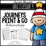 Journeys First Grade Unit 2 Lesson 9 Print and Go Activities