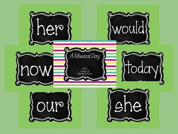 Journey's First Grade Unit 2: Sight Word PowerPoint Slideshows