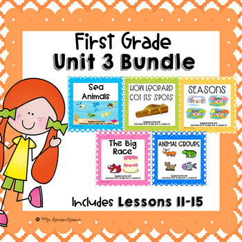 First Grade Unit 3 Supplemental Units Bundle