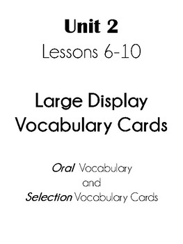Journeys First Grade Unit 2 Vocab and Test Cards