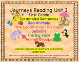 Journeys First Grade Unit 3 Bundle of Scrambled Sentences