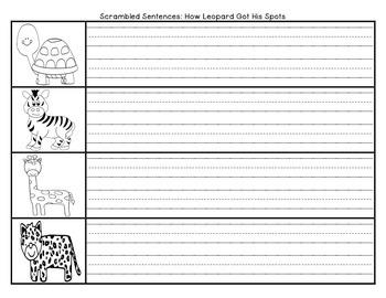 How Leopard Got His Spots Scrambled Sent. Journeys First Grade Unit 3 Lesson 12