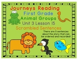 Animal Groups Scrambled Sentences Journeys First Grade Uni
