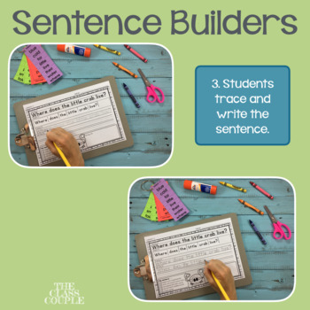 Journeys First Grade Unit 3 Lessons 11-15 Sentence Builders