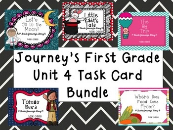 Journey's First Grade Unit 4 Bundle (5 Stories) Task Cards