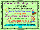 Journeys Reading First Grade Unit 4 Bundle of Scrambled Sentences
