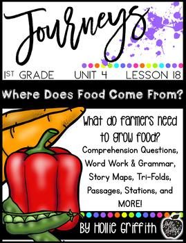 Journeys First Grade {Unit 4, Lesson 18, Where Does Food Come From?}
