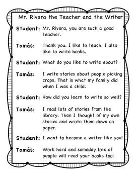 Tomas Rivera Partner Skits Journeys First Grade Unit 4 Lesson 19