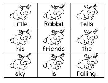 Little Rabbit's Tale Scrambled Sentences Journeys First Grade Unit 4 Lesson 20
