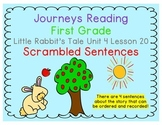 Little Rabbit's Tale Scrambled Sentences Journeys First Gr