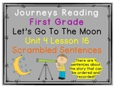 Let's Go To The Moon Scrambled Sentences Journeys First Gr