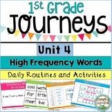 Journeys First Grade Unit 4 Sight Word Activities