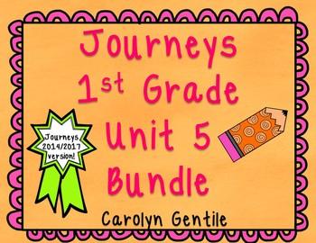 Journeys First Grade Unit 5 Bundle 2014 Version