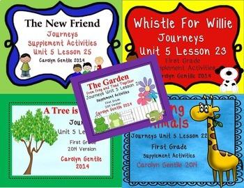 Journeys First Grade Unit 5 Bundle 2014/2017 Version