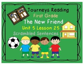 The New Friend Scrambled Sentences Journeys First Grade Unit 5 Lesson 25