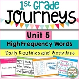 Journeys First Grade Unit 5 Sight Word Activities