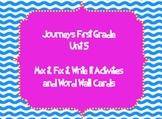 Journeys First Grade Unit 5 Sight Word Mix it, Fix it, Write it