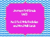 Journeys First Grade Unit 5 Sight Word Mix it, Fix it, Write it