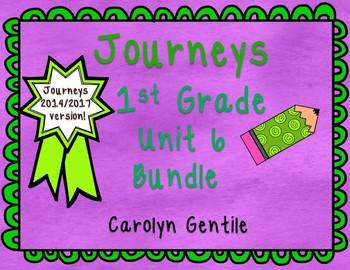 Journeys First Grade Unit 6 Bundle 2014/2017 Version