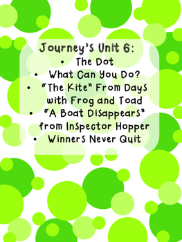 Journeys First Grade Unit 6 Bundle