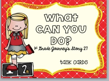 Journey's First Grade Unit 6 Bundle (5 Stories) Task Cards
