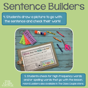 Journeys First Grade Unit 4 Lessons 16-20 Sentence Builders