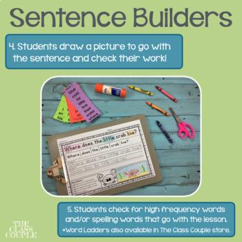Journeys First Grade Units 1-6 Sentence Builders BUNDLE!