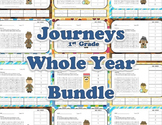 Word Search and ABC Order - Bundle of 30 - Journeys 1st Grade Aligned Vocabulary