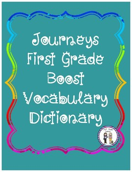 Journeys First Grade Vocabulary Pack