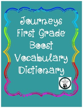 Journeys First Grade Vocabulary Pack