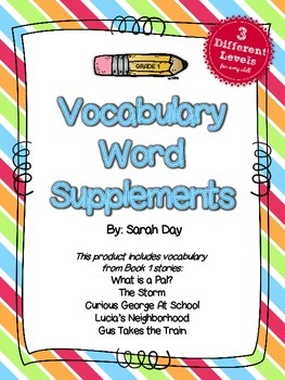 Journeys First Grade Vocabulary Words, Unit 1 DIFFERENTIATED