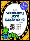 Journeys First Grade Vocabulary Supplements with QR Codes,