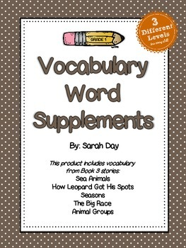 Journeys First Grade Vocabulary Words, Unit 3 DIFFERENTIATED