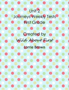 Journeys First-Grade Weekly Assessment Unit 2 (RLA tests) Lessons 6-10