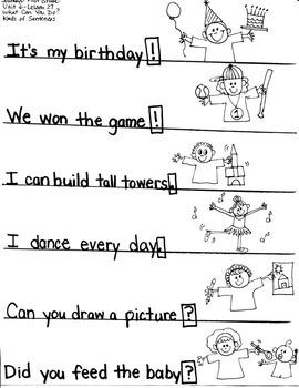 Journeys First Grade: What Can You Do?/ Unit 6-Lesson 27/ER/EST/?.!/CLASSIFY/LE