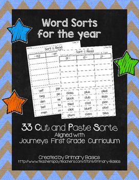 Journeys First Grade Word Sorts