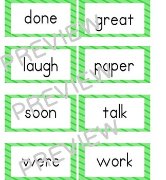 Journeys (2011-2014 editions) First Grade Word Wall Cards