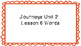 Journeys First Grade Word Wall Unit 2
