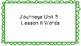 Journeys First Grade Word Wall Unit 3