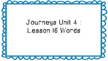 Journeys First Grade Word Wall Unit 4