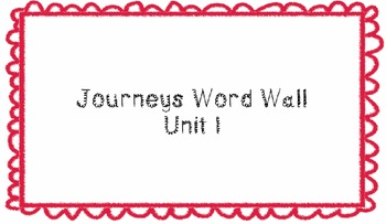 Journeys First Grade Word Wall Unit Bundle