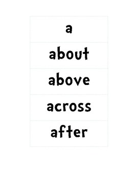 Journeys First Grade Words to Know A-C Sight Word Wall Printable