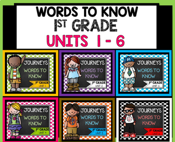 Journeys First Grade Words to Know Bundle