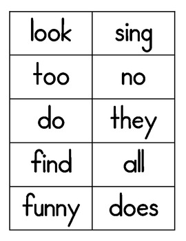 Journeys - First Grade - Words to Know - Flash Cards - Units 1-6