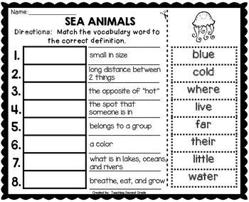 First Grade Words to Know Journeys Unit 3