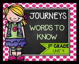 Journeys First Grade Words to Know Unit 4