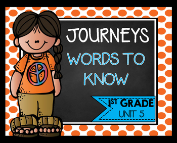 First Grade Words to Know Unit 5
