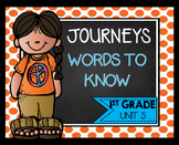 First Grade Words to Know Journeys Unit 5