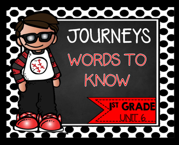 First Grade Words to Know Unit 6