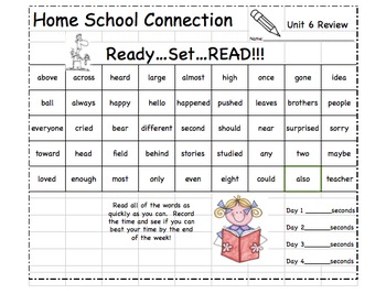 """Journeys First Grade """"Words to Know"""" Unit Review Game (Units 1-6)"""